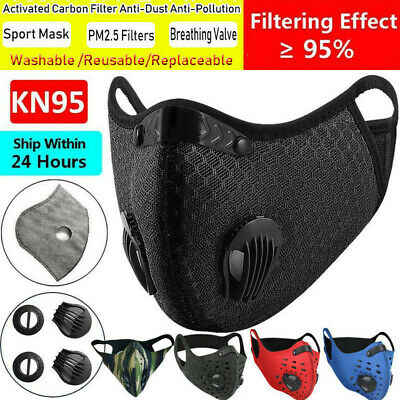 $ CDN10.06 • Buy Reusable Sport Face Protection Cover& 3/4/5 Layers Filters Pads & Breath Valves