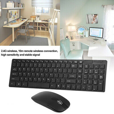 HK-06 2.4G Wireless Keyboard And Mouse Combo Computer Keyboard With Mouse UK • 12.49£