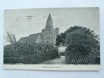 Sussex, Ewhurst Church. Sent 1921. Publisher By A H Homewood, Burgess Hill • 1.49£