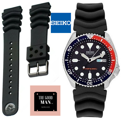 $ CDN25.84 • Buy Genuine Seiko Z22 Watch Band Diver SKX171 SKX173 22mm Black Rubber Curved Vent V