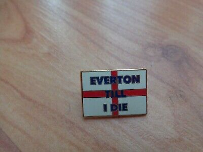 Classic Everton Fc Crest 'everton Till I Die' England Flag Enamel Pin Badge • 9.99£