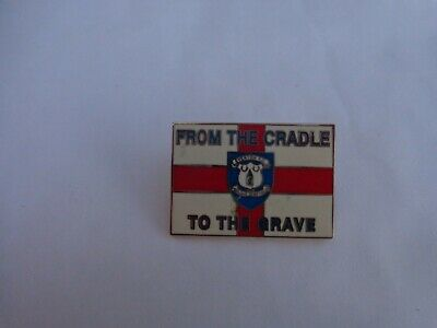 Classic Everton Fc 'from The Cradle To The Grave' England Flag Enamel Pin Badge • 9.99£