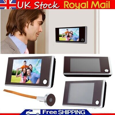 3.5'' LCD 120 Degree Peephole Viewer Door Eye Doorbell Camera Securiyt Monitor • 25.99£
