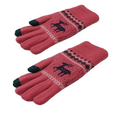 Winter Lady Anti-slip Touch Screen Gloves Full Finger Warm Mittens For Phone SM • 3.21£