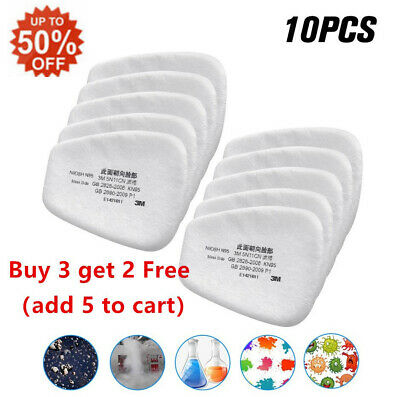 $ CDN8.63 • Buy 10* 5N11 Cotton Filter Respirator Safety Protect Replacement For 6200 6800 7502