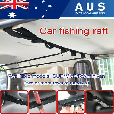 AU18.88 • Buy Car Fishing Rod Rack Carrier Reel Combos Pole Holder Horizontal Mount Belts 2PCS