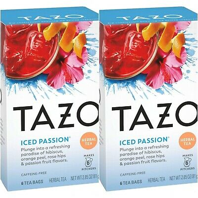 Tazo Iced Passion Herbal Tea 2-Pack (2 Boxes/12 Bags) • 11.01£