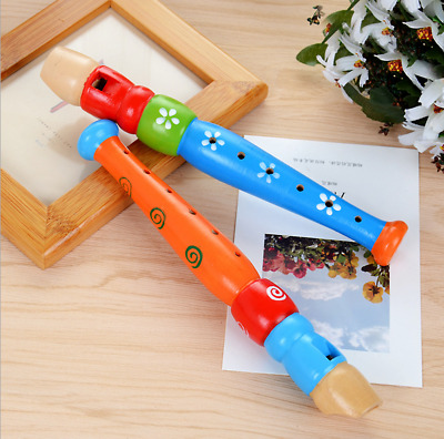 Colorful Wooden Trumpet Buglet Hooter Bugle Educational Toy Gift For Kids • 8.38£
