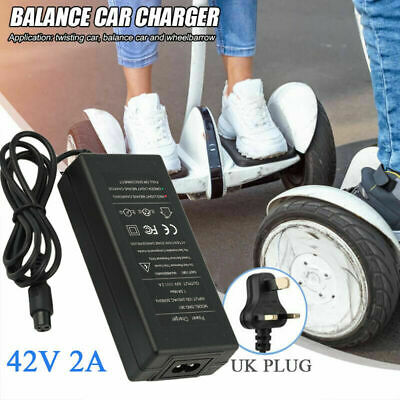 UK Plug FAST Charger Power Adapter For Segway/Swegway/Hoverboard Balance Board • 10.99£