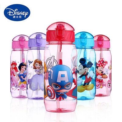 £5.99 • Buy 450ml Disney Kids Children Sippy Suction Cup Baby Drinking Water Straw Bottle