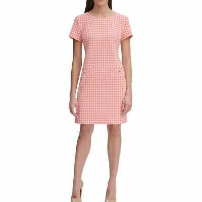 AU27.03 • Buy TOMMY HILFIGER NEW Women's Gingham Faux-pocket Sheath Dress TEDO