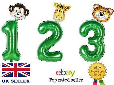 £2.99 • Buy Animal Number Balloons Giant 30  Foil Number Balloons Kids Birthday Party Decor