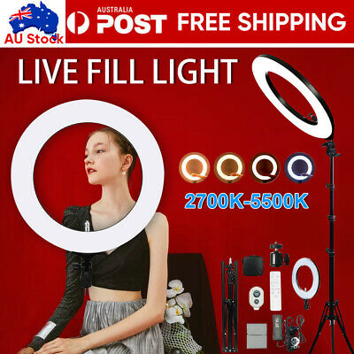 AU22.29 • Buy 10-19 Inch Dimmable LED Ring Light Tripod Stand Selfie Mini Circle Lamp Make Up