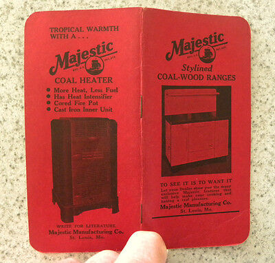 $4.99 • Buy 1947-48 Majestic Coal-Wood-Gas Ranges, Stoves, Heaters Advertising Booklet