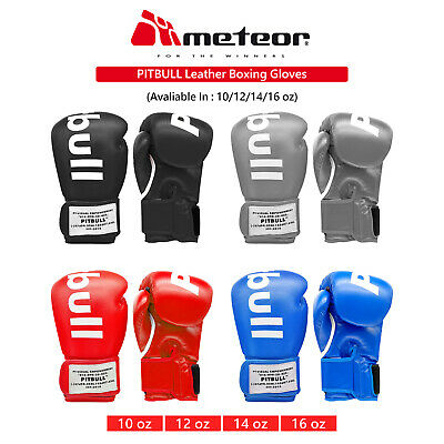 AU38.99 • Buy PITBULL Leather Boxing Gloves MMA Grappling Training UFC Fight Punch Sparring