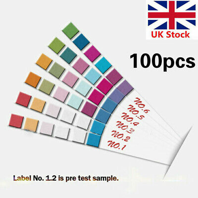 50/100 Strips 6 In1 PH KH Tester Tropical Aquarium Cold Water Fish Tank Test UK • 8.39£