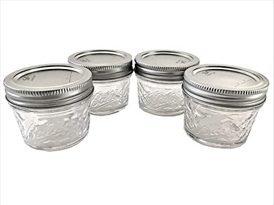 $7.99 • Buy Mason Ball Jelly Jars-4 Oz. Each - Quilted Crystal Style - Set Of 4
