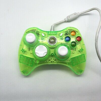 AU41.95 • Buy Green And White Transparent Wired Rock Candy Xbox 360 Controller PDP Like New