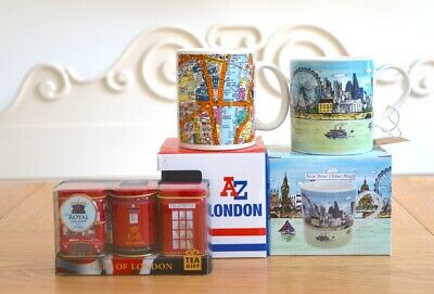 Bone China Mugs Coffee Tea Cup Queen London Icon Gift Box  Free English Tea  • 13.99£