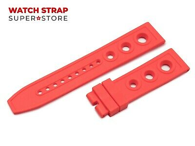 For OMEGA Watch Red Silicone Rubber Band Strap Buckle Clasp 22mm 24mm Pins • 18.90£