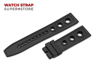 For OMEGA Watch Black Silicone Rubber Band Strap Buckle Clasp 22mm 24mm Pins • 18.90£