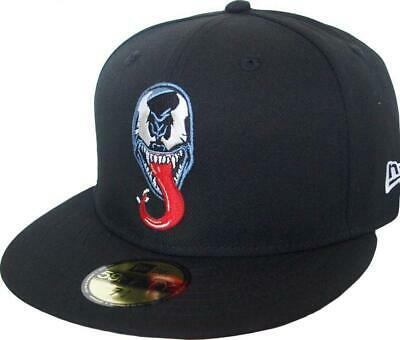 New Era Venom Logo Pe Red UV 59Fifty Fitted Cap Marvel Comics Limited Edition • 46.28£