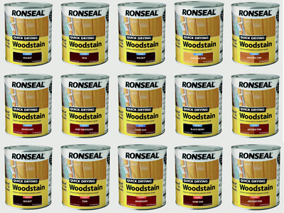 £17.85 • Buy Ronseal Woodstain Quick Dry  750 & 250 Ml  ALL COLOURS