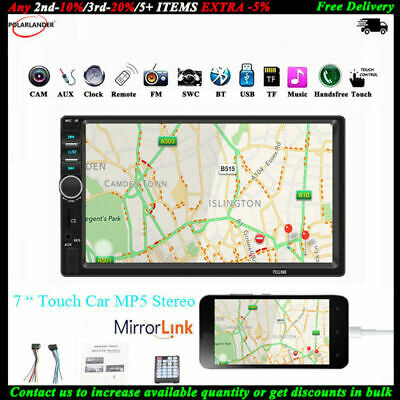 $ CDN44.92 • Buy 7'' 2 Din Car Radio Bluetooth Touch Screen Stereo MP5 Player TF AUX Mirror Link