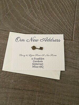Personalised New Home Address Cards- New Home/ Handmade- Pack Of 10 • 6£