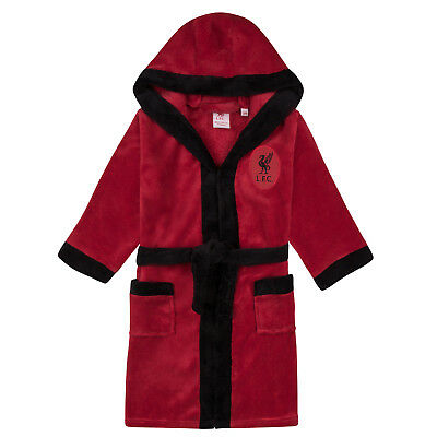 Liverpool FC Official Football Gift Boys Hooded Fleece Dressing Gown Robe • 14.99£