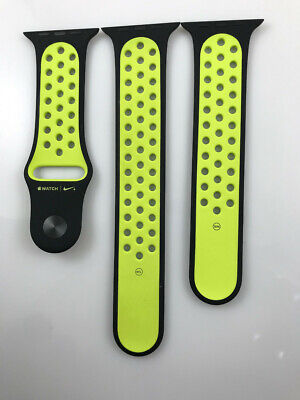 $ CDN13.61 • Buy Original Apple Watch Series 5 4 3 2 Nike Sport Band 42mm 44mm Black/Volt Genuine