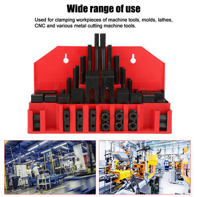 $64.76 • Buy New 58 Pc Clamping Kit 7/16in T-Slot 3/8-16 Stud Mill Machinist Set Universal US