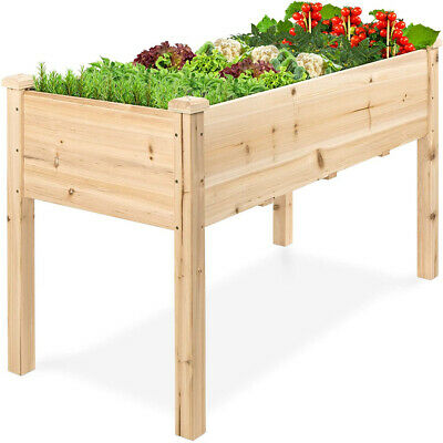 Raised Wood Garden Bed Planter Vegetables Grow Box  Flower Herbs Plant Stand UK • 69.95£