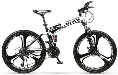 """View Details Novokart Foldable Mountain Bike 26"""",21-Speed,Bicycle With 3 Cutter Wheel,White • 339.68£"""