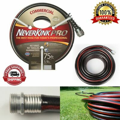 Commercial Outdoor Water Hose Heavy Gauge Power Coil  Rubber Black Greenhouse • 66.12£