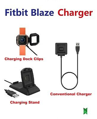 $ CDN10.95 • Buy Fitbit Blaze USB Charger Charging Cradle Cord Wire Cable Dock Stand Replacement