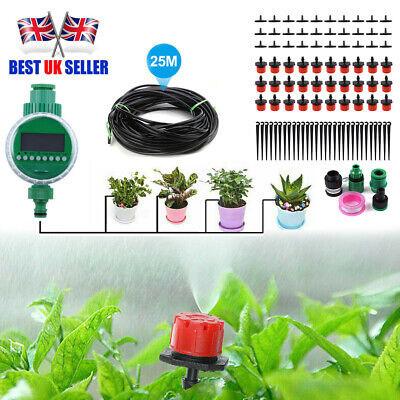 82ft Automatic Drip Irrigation System Kit Plant Timer Self Watering Garden Hose  • 18.99£