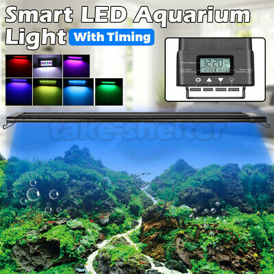 AU58.99 • Buy 60-90-120CM Aquarium LED Light 1ft /2ft /3ft /4ft Marine Aqua Fish Tank W/Timing