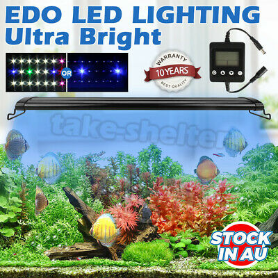AU62.89 • Buy 60/90/120CM Aquarium LED Lighting 1ft /2ft /3ft /4ft Marine Aqua Fish Tank Light