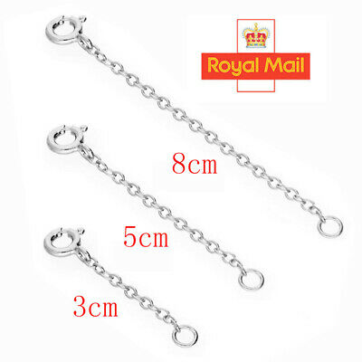 £4.58 • Buy 925 Sterling Silver 1/2/3  TRACE CHAIN EXTENDER (bracelet, Necklace Extension) A