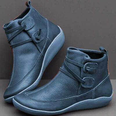 £15 • Buy Women Ankle Boots Arch Support Shoes Flat Heels Fashion Party Booties Shoes UK:9