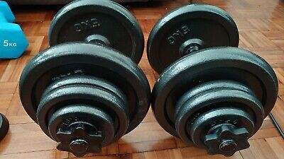 Dumbbells Weights Gym Equipment Heavy Lifting 28kg 10 20 25 Dumbbell Dumbells • 280£