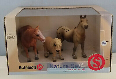 Schleich 40910 Horses Boxed Set Model Shetland Appaloosa Quarter Horse Retired • 36.17£
