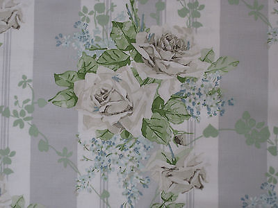 £81.50 • Buy SANDERSON CURTAIN FABRIC  Cecile Rose  3.5 METRES IVORY/SILVER VINTAGE 2 COLL