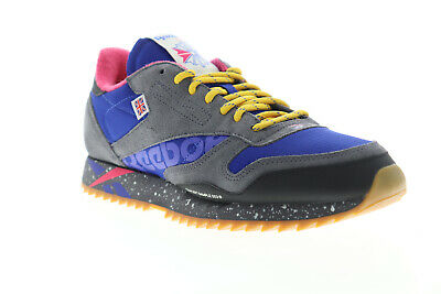 AU110.99 • Buy Reebok Classic Leather Ripple MU DV7140 Mens Blue Suede Low Top Sneakers Shoes