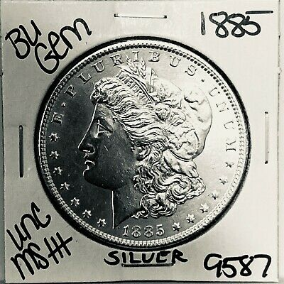 $0.11 • Buy 1885 Bu Gem Morgan Silver Dollar Unc Ms++ Genuine U.s. Mint Rare Coin 9587