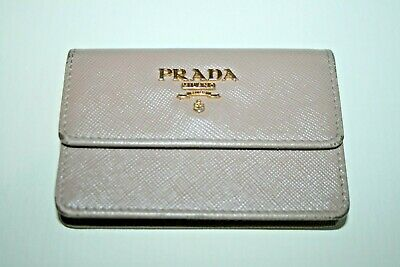 Womens Designer Prada Milano Coin Purse Genuine Beige Leather Purse Sm Change  • 46.50£