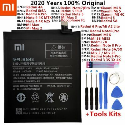 $29.99 • Buy Original XiaoMi Replacement Battery For Xiaomi Mi Redmi Note Mix 2 3 3S 3X 4 4X