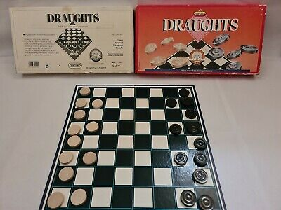 Wooden Draughts Board Game Made My Spears • 4.99£