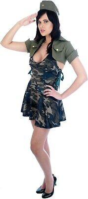 Ladies Soldier Costume Special Forces WW2 Army Military Combat Uniform 10-12 • 12.99£